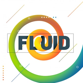 Elemento de diseño de arte fluido sobre fondo blanco.