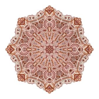 Elemento decorativo de meditación de yoga de medallón de mandala.