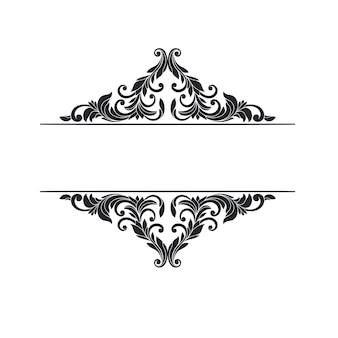 Elemento de desplazamiento de marco adornado