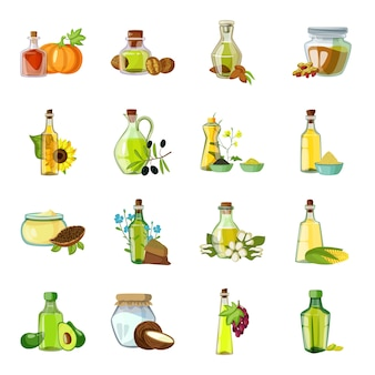 Elemento de dibujos animados de aceite. ilustración de vector de botella de aceite