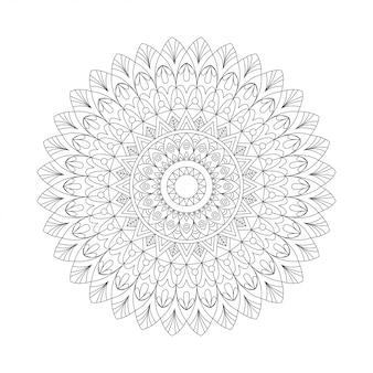 Elemento de diseño abstracto blanco negro. mandala redondo en vector. plantilla gráfica para su diseño. patrón circular