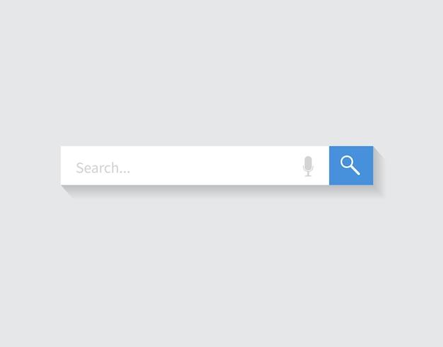 Elemento de diseño de la barra de búsqueda barra de búsqueda para sitios web y aplicaciones móviles