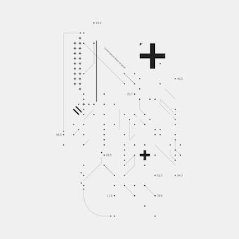 Elemento de diseño complejo en el estilo de falla en el fondo blanco. útil para las impresiones, los carteles y las cubiertas.