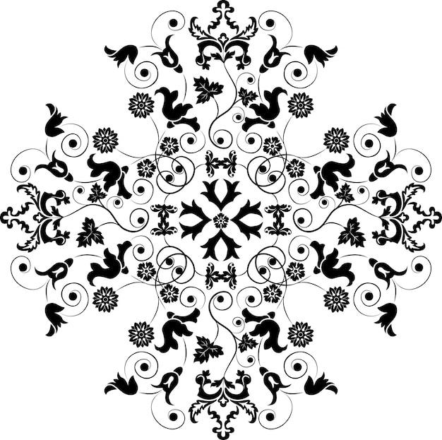 Elemento para el diseño, flor de esquina, vector