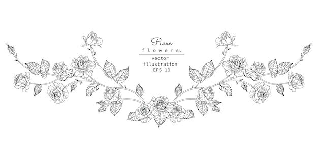 Elemento de diseño floral para cabecera.