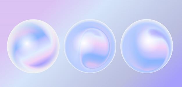 Elemento de diseño fluido holograma abstracto.