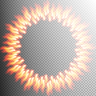 Elemento de diseño de fondo transparente de fuego.