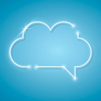 Elemento de diseño de globo de discurso azul