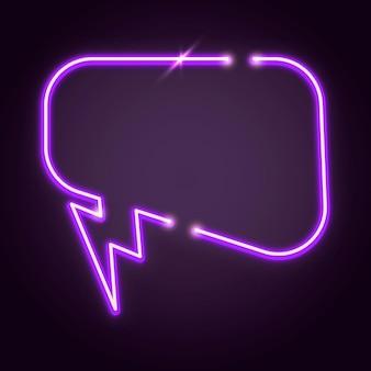 Elemento de diseño de globo de discurso púrpura