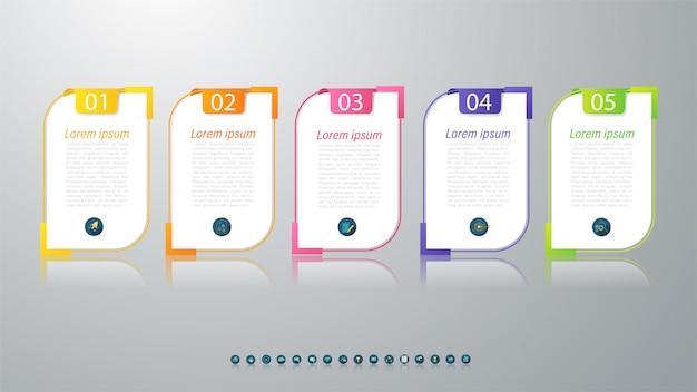 Elemento de diseño gráfico empresarial plantilla infografía.