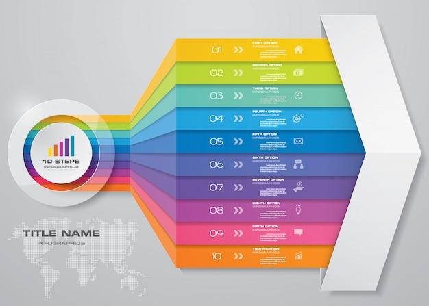 Elemento de diseño de gráfico de flecha de infografía.