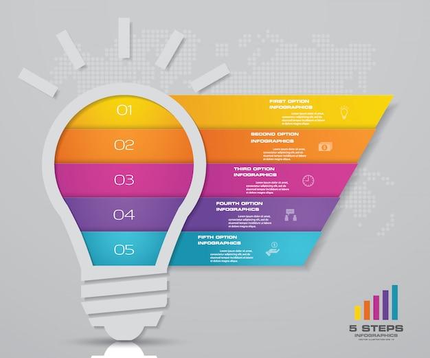 Elemento de diseño gráfico infografía abstracta