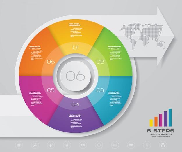 Elemento de diseño gráfico infografía flecha.