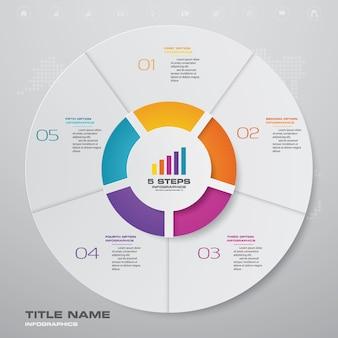 Elemento de diseño gráfico infografía