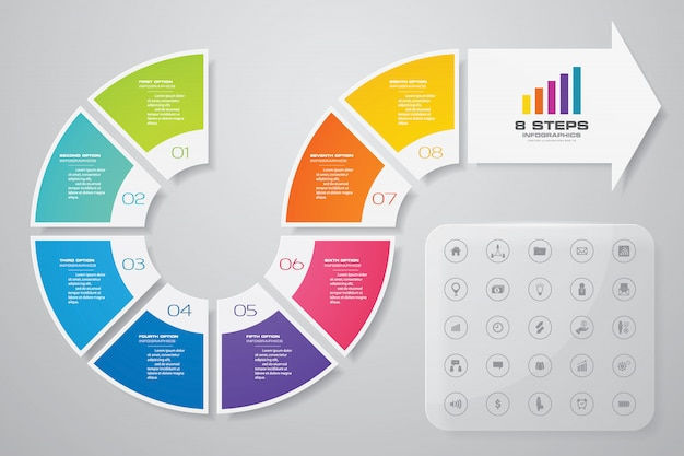 Elemento de diseño infográfico flecha.