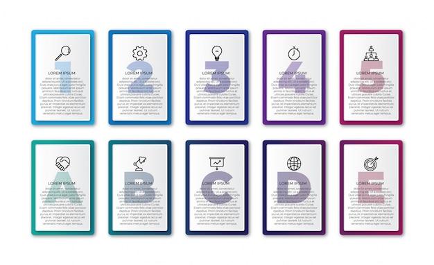 Elemento de diseño infográfico de la línea de tiempo