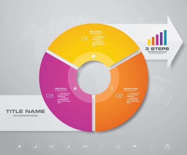 Elemento de diseño infográfico.