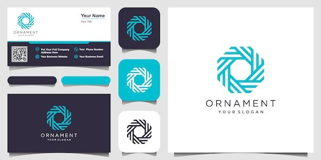 Elemento de diseño del logotipo de la empresa. símbolos de adorno abstracto en forma de círculo. diseño de tarjeta de visita
