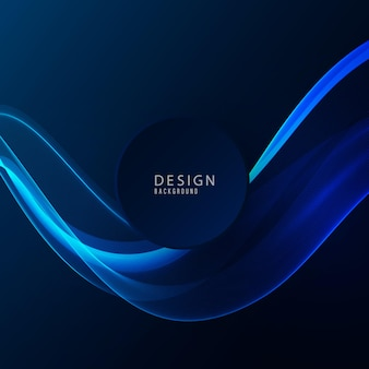 Elemento de diseño de onda azul sobre fondo oscuro. diseño de tecnología flujo de onda azul