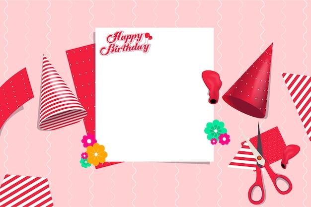 Elemento de diseño de plantilla de vector de preparación de fiesta de cumpleaños