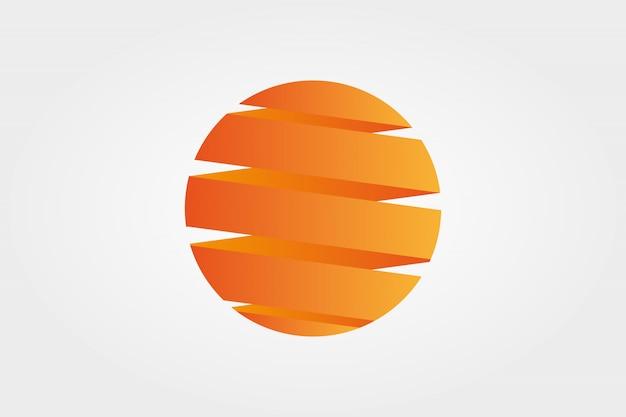 Elemento de diseño de sol, círculo, espiral, hélice
