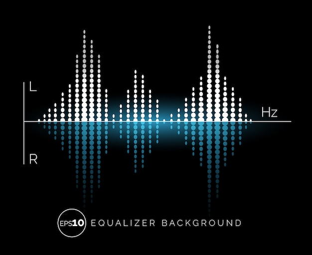 Elemento de diseño de sonido digital ecualizador