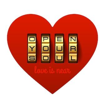 Elemento de diseño de tarjeta de felicitación del día de san valentín
