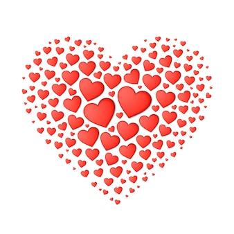 Elemento de diseño de tarjeta de san valentín