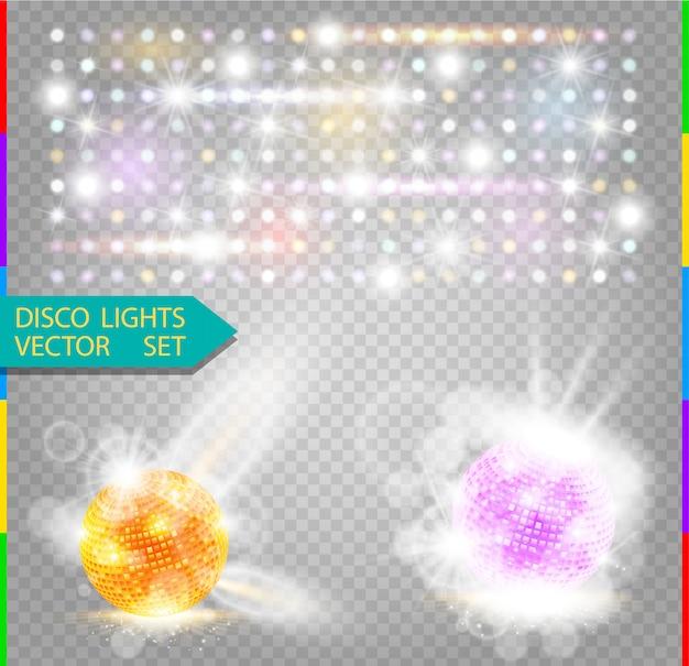 Elemento de efecto de luz de resplandor de fiesta. bola de disco