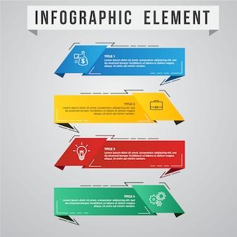 Elemento de estilo gráfico de información moderna
