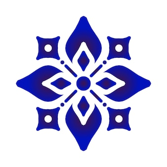 Elemento flor de porcelana