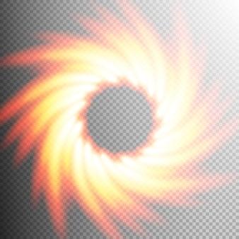 Elemento de fondo transparente de fuego.