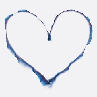 Elemento de forma de corazón de vector de arte de cromatografía abstracta estética