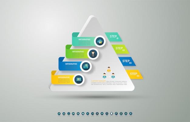 Elemento de gráfico de infografía de opciones de plantilla de negocio de diseño.