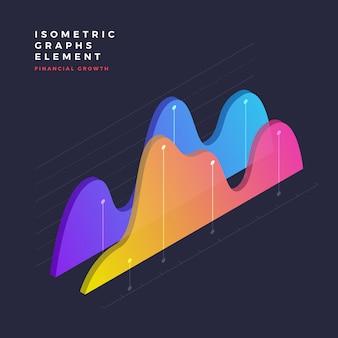 Elemento gráfico isométrico