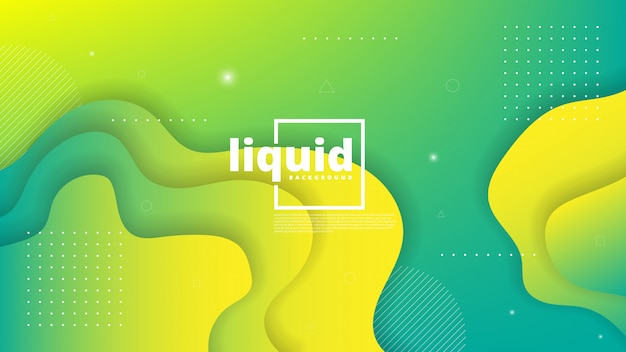 Elemento gráfico moderno abstracto. formas dinámicas de colores y ondas. gradiente de fondo abstracto con formas líquidas que fluyen