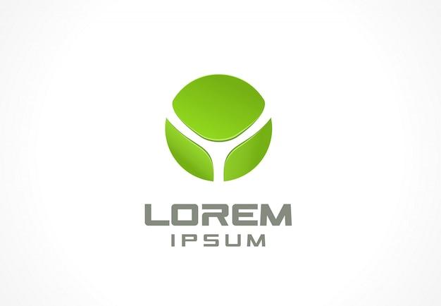Elemento de icono idea de logotipo abstracto para empresa comercial. eco, verde, flor, spa, cosmética y conceptos médicos. pictograma para plantilla de identidad corporativa. ilustración de stock