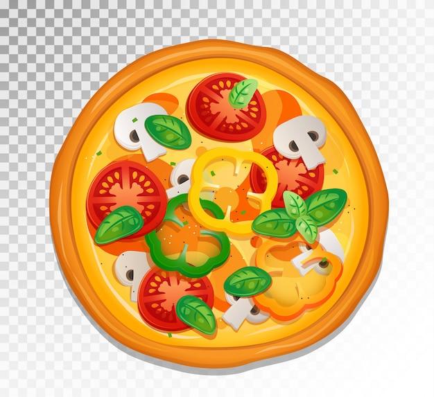 Elemento de impresión colorida para el diseño de su pizzería.