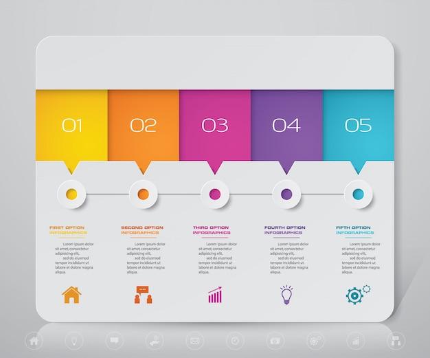 Elemento de infografía gráfica moderna