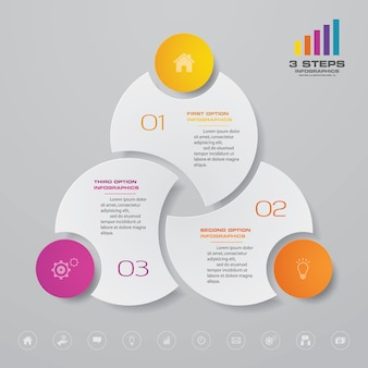 Elemento de infografía gráfica
