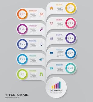 Elemento de infografía gráfico de línea de tiempo.