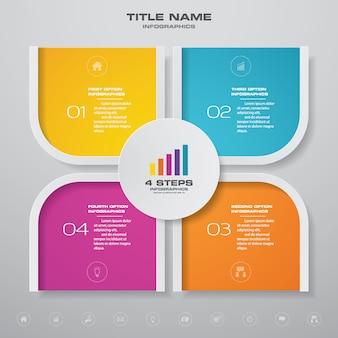 Elemento de infografía gráfico.