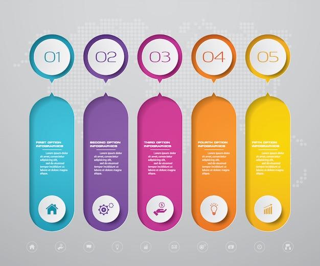 Elemento de infografía de línea de tiempo