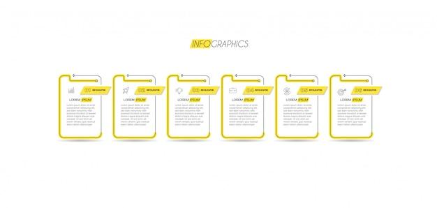 Elemento de infografía con pasos. se puede utilizar para procesos, presentaciones, diagramas, diseño de flujo de trabajo, gráficos de información, diseño web.