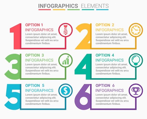 Elemento infografico diseño del número.
