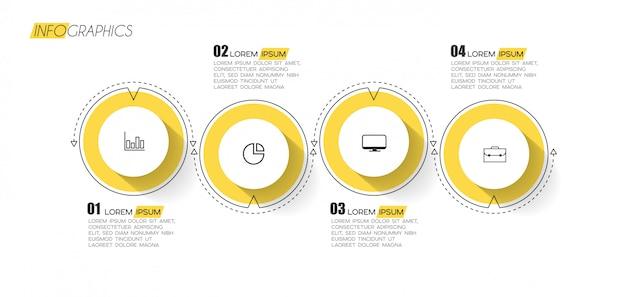Elemento infográfico con opciones o pasos.