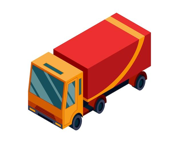 Elemento isométrico de transporte de logística isométrica.