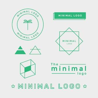 Elemento de logotipo mínimo en dos colores.