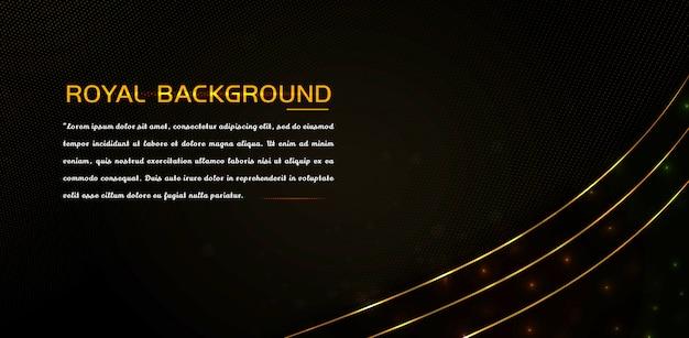Elemento de lujo con efecto dorado brillante y líneas brillantes.