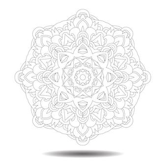 Elemento de mandala. ilustración de zentangle simétrico